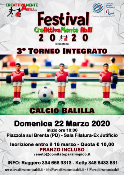 3º torneo di calcio balilla integrato
